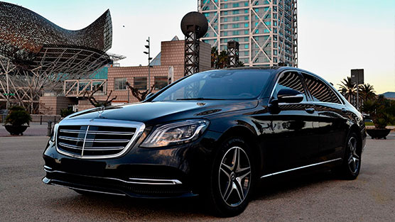 rent a mercedes s class with driver in barcelona